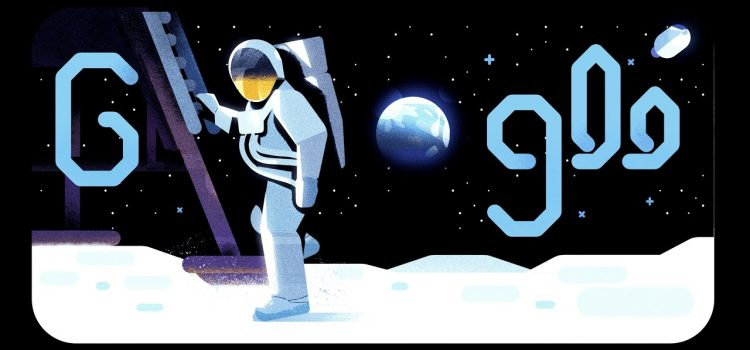 """""""We did it"""": Today's Doodle for the 50th anniversary of the moon landing"""