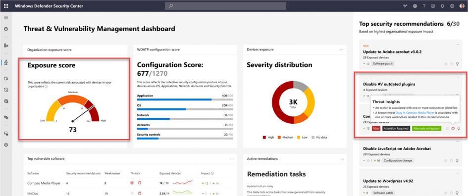 microsoft-intune-security-tasks-extend-microsoft-defender-atp's-threat-&-vulnerability-management