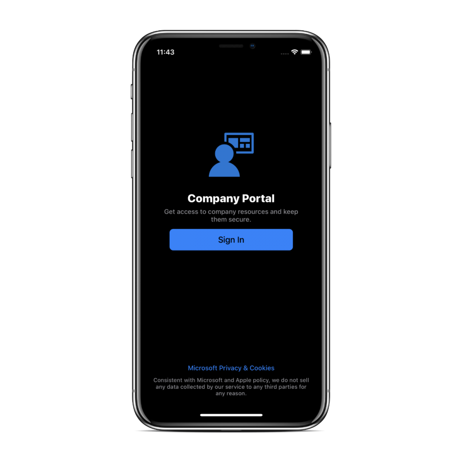introducing-dark-mode-on-microsoft-intune-company-portal-for-ios-