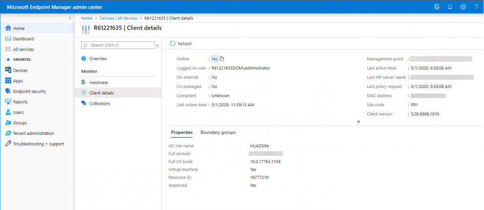 view-client-details-in-mem-admin-center-with-configuration-manager-technical-preview-2004