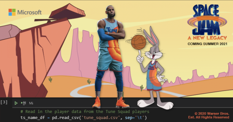 Microsoft teams up with Warner Bros., LeBron James and Bugs Bunny to empower a new generation of developers