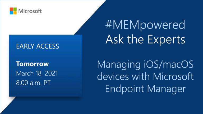 Early access: Managing iOS and macOS devices with Microsoft Endpoint Manager