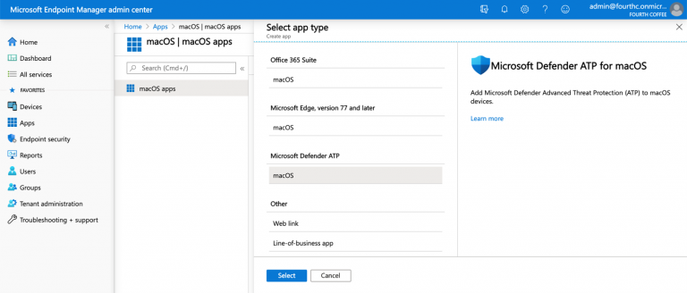 Microsoft Endpoint Manager simplifies deployment of Microsoft Defender ATP for macOS