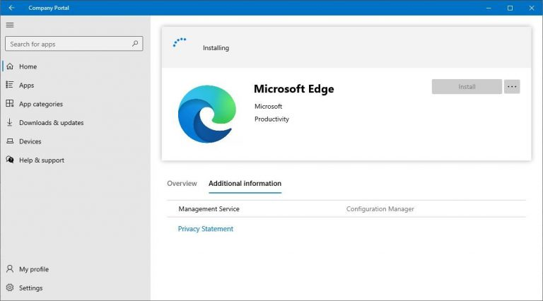 Company Portal app for use on co-managed devices is now available for ConfigMgr current branch