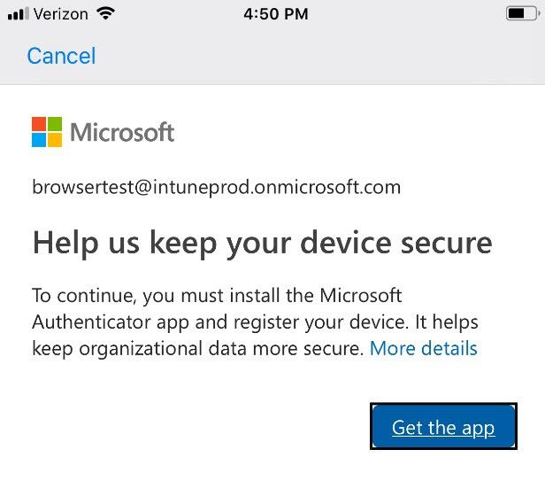 Microsoft Edge on iOS and Android now supports conditional access and single sign-on