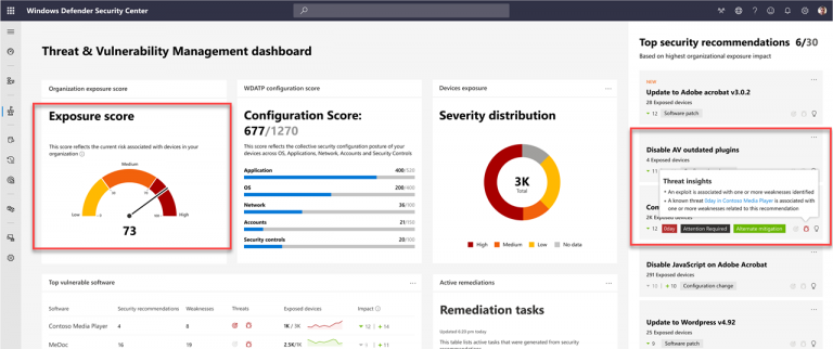 Microsoft Intune security tasks extend Microsoft Defender ATP's Threat & Vulnerability Management