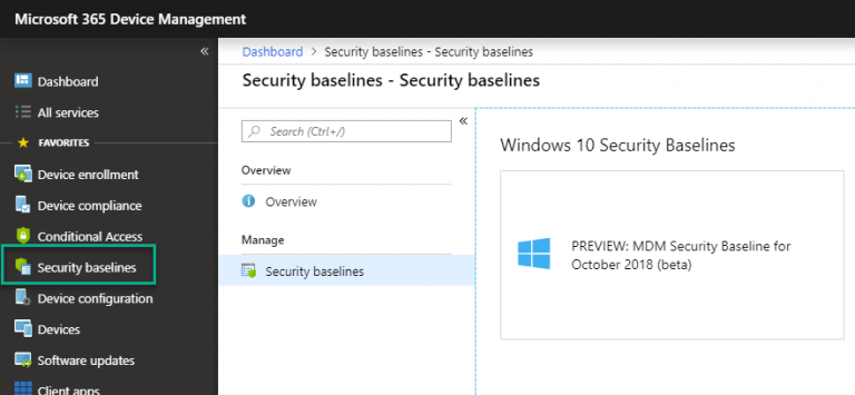 Microsoft Intune introduces MDM Security Baselines to secure the modern workplace