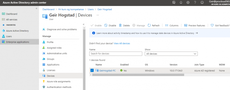 Disable intune from Office 365.