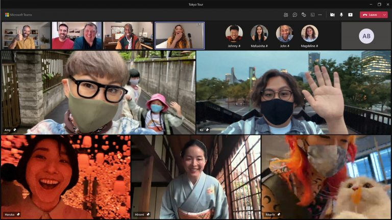 Closer together in Tokyo: How Microsoft Teams created a shared virtual experience