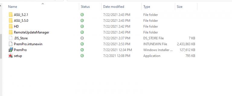 installing prem pro package via intune
