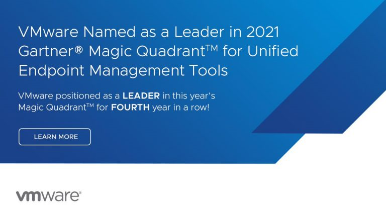 VMware Named a Leader in 2021 Gartner® Magic Quadrant™ for UEM Tools and Received Highest Scores in 3 out of 4 Use Cases in 2021 Gartner® Critical Capabilities for UEM Tools